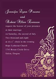 marriage invitation online personalized retro exquisite purple floral wedding card ewi078 as