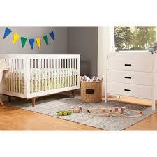 Walmart Baby Nursery Furniture Sets Baby Mod Marley 3 In 1 Convertible Crib White And Walnut Walmart