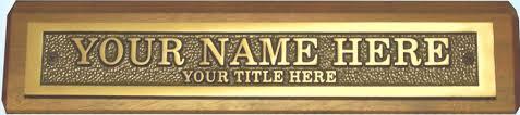 unique name plates bronze desk name plates