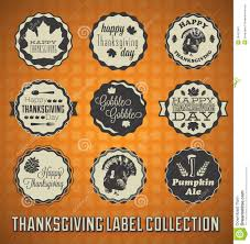 thanksgiving labels vintage happy thanksgiving day labels stock vector image 29452467