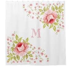 chic shower curtains personalized for women and girls oh so
