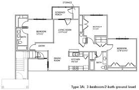 3 Bedroom Apartments Floor Plans 3 Bedroom Floor Plans May River Village