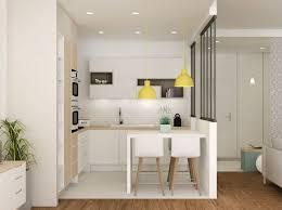 cuisine d appartement contemporain deco cuisine appartement design salle manger for