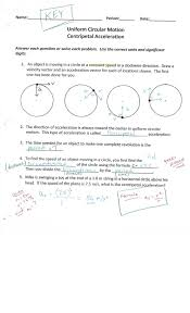 Motion Worksheets Physics With Coach T Centripetal Acceleration Universal