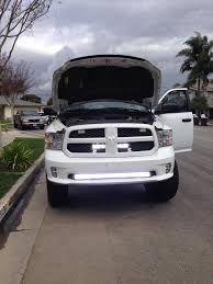 Led Grill Light Bar by Behind Grill Led Pods Installed Page 3 Dodge Ram Forum Dodge