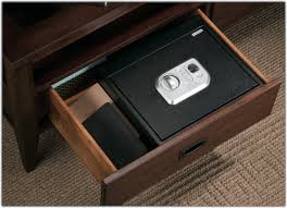 How To Add A Lock To A Desk Drawer Amazon Com Stack On Ps 5 B Biometric Drawer Safe Black Home