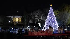 president obama lights national christmas tree for final time