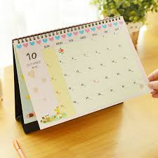 Flat Desk Calendar 2016 Calendar Cute Cartoon Totoro Minion Desktop Animal Calendar