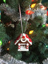 gingerbread house ornament made with lego parts christmas