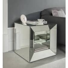 cube mirror side table venetian mirrored cube side table modern side table