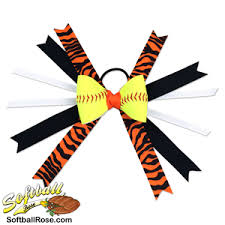 softball hair bows softball hair bow black with zebra print