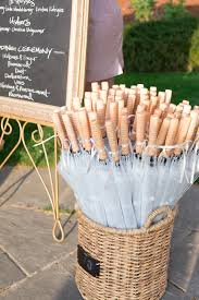 clear umbrellas as outdoor wedding favors if it rains these will
