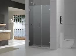 Frosted Glass Shower Door Frameless Bathroom Winsome Frosted Glass For Frameless Shower Doors With
