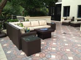 Gas Fire Pit Table Sets - patio furniture with gas fire pit table fpudining