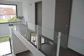 escalier garde corps verre escalier quart tournant blanc ensemble garde corps verre