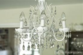 How To Make Crystal Chandelier Chandelier Makeover Its Overflowing