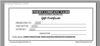 travel gift certificate template