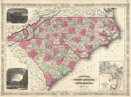 Map Of Carolinas File 1866 Johnson Map Of North Carolina And South Carolina