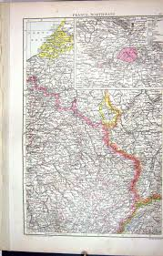Nancy France Map by Old Print Antique And Victorian Art Prints Paintings World Maps