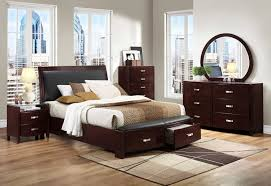 Black Zen Platform Bedroom Set 6 Pc King Bedroom Set Espresso Finish W Nailhead Trim Coaster 5