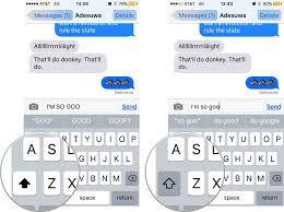 how to disable lowercase keys in ios 9
