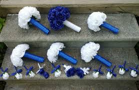 royal blue boutonniere 17 royal blue white bouquet wedding package set with