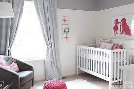 Pink And Gray Nursery Decor Pink And Grey Nursery Room Reveal Rosyscription