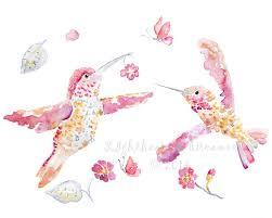 hummingbird art girls wall art girls by LightheartedDreamer on