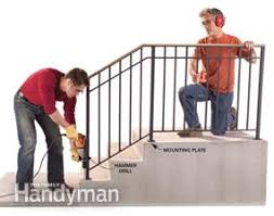 Installing Banister Safety First Install An Outdoor Staircase Railing Family Handyman