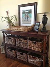 Pottery Barn Sofa Tables by Sofa Table With Baskets Foter