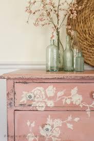 Floral Interiors Pink Floral Dresser White Chippy Dresser With Decorsteals Knobs