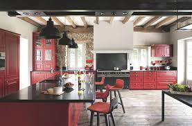 Cuisine Rouge Et Grise by Indogate Com Decoration Cuisine Moderne Rouge
