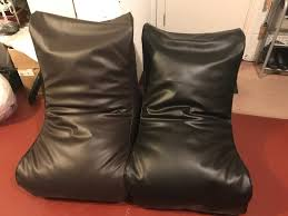 two faux leather gaming beanbag chairs from dunelm in redcar