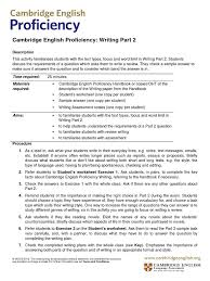 cambridge english proficiency writing part 2 essays test