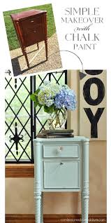 Chalk Paint Side Table Simple Side Table Makeover Confessions Of A Serial Do It Yourselfer