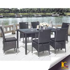 Used Wicker Patio Furniture Sets - glass dining room set in rattan 110 701 dt 5 set at beyond stores