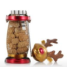 online shop netted christmas elk wine rack animal wine holder cork