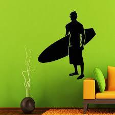 online get cheap surfer wall mural aliexpress com alibaba group wall decals man surfer decal vinyl sticker surfing sport decor art murals china mainland