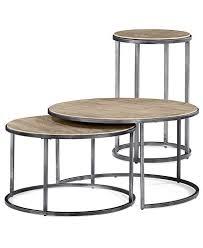 round nesting coffee table monterey round tables 2 piece set nesting coffee table and end