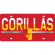 sdsu alumni license plate frame pittsburg state gorillas merchandise apparel pittsburg state
