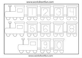 tracing numbers 1 10 worksheets worksheets