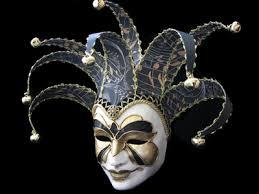venetian jester mask 06fnr volto fly joker black gold paper venetian masquerade