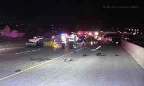 white lexus crash driver killed after slamming into work truck on anaheim freeway