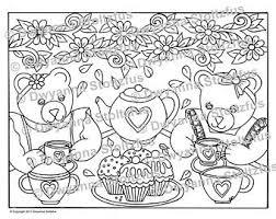 teddy bear tea party birthday kit printable party food