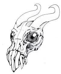 monster ink sketch by 8bitmonster on deviantart