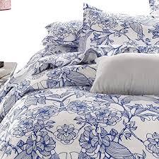 Porcelain Blue Duvet Cover Amazon Com Vaulia Lightweight Microfiber Duvet Cover Set Blue