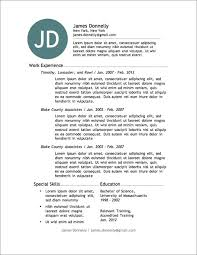 free resume builder and download resume template and