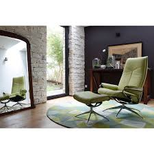 stressless city u2013 leather or fabric high back chair with swivel