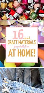 16 unconventional craft supplies that are free or cheap and