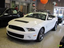2010 Black Ford Mustang 2010 Performance White Ford Mustang Shelby Gt500 Convertible